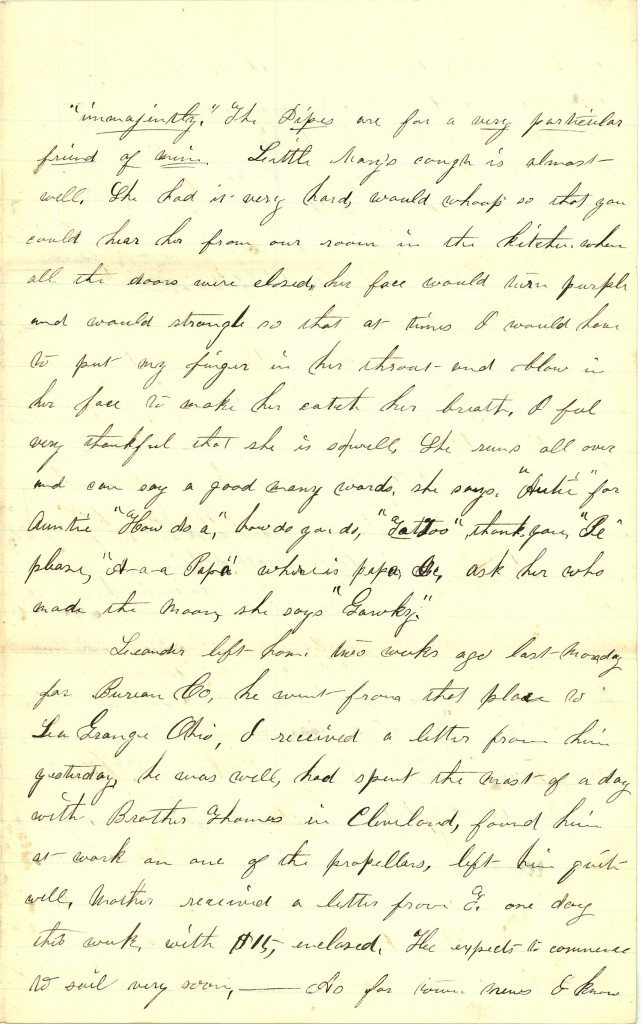 Joseph Culver Letter, March 26, 1863, Page 3