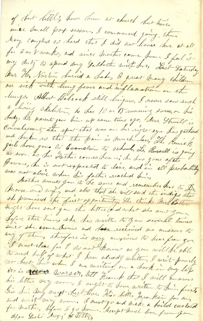 Joseph Culver Letter, March 26, 1863, Page 4