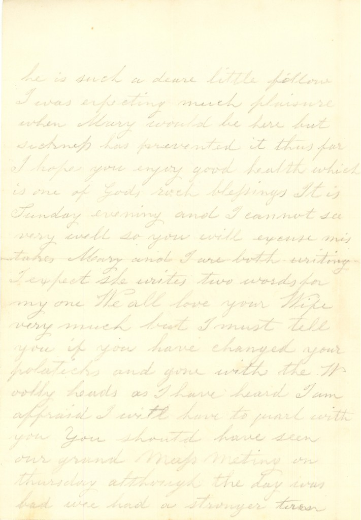 Joseph Culver Letter, October 23, 1863, Letter 2, Page 2