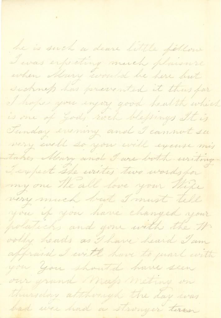 Joseph Culver Letter, October 23, 1863, Letter 2, Page 2
