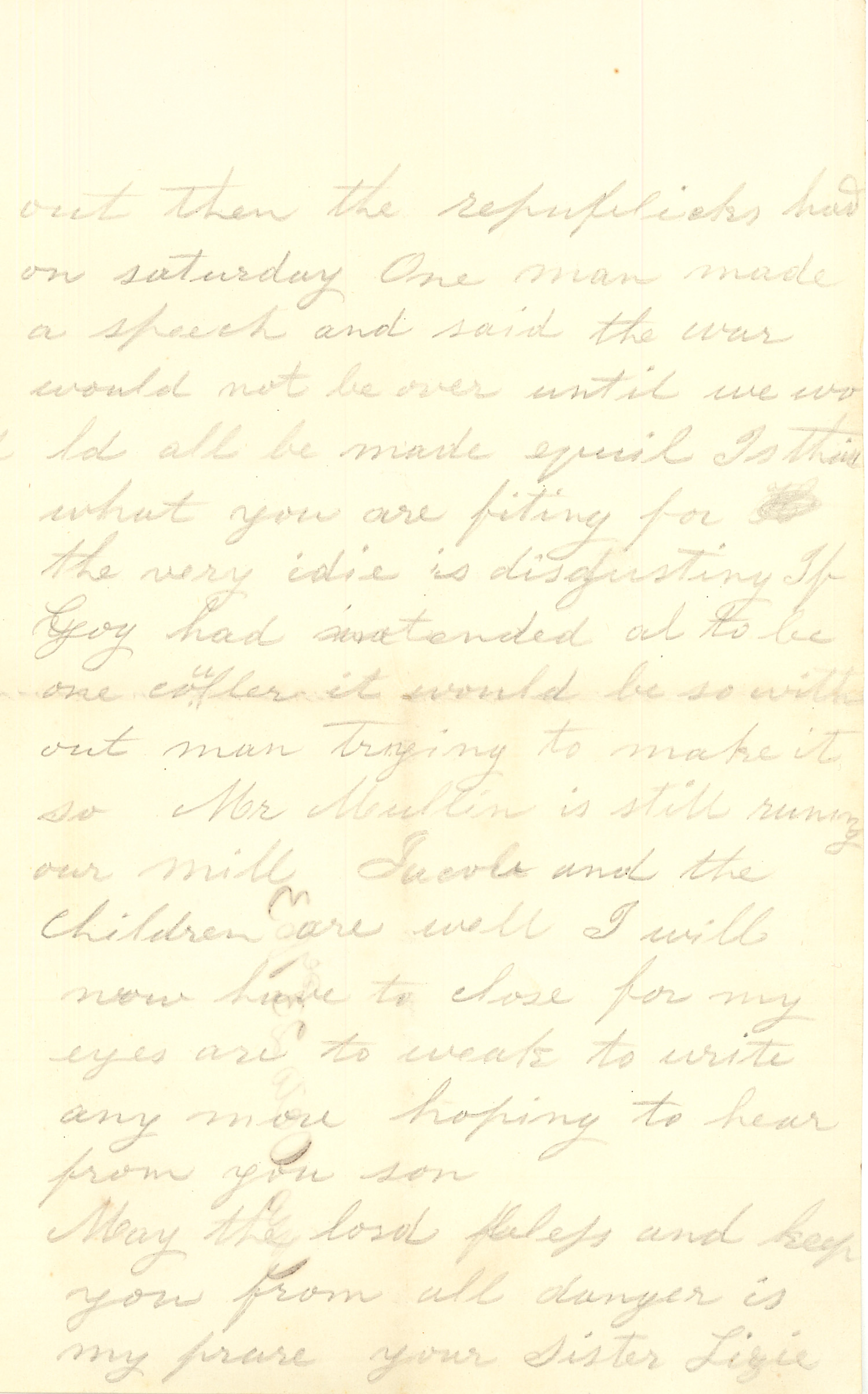 Joseph Culver Letter, October 23, 1863, Letter 2, Page 3