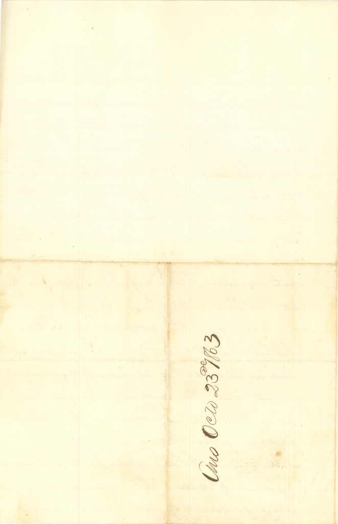 Joseph Culver Letter, October 23, 1863, Letter 2, Page 4