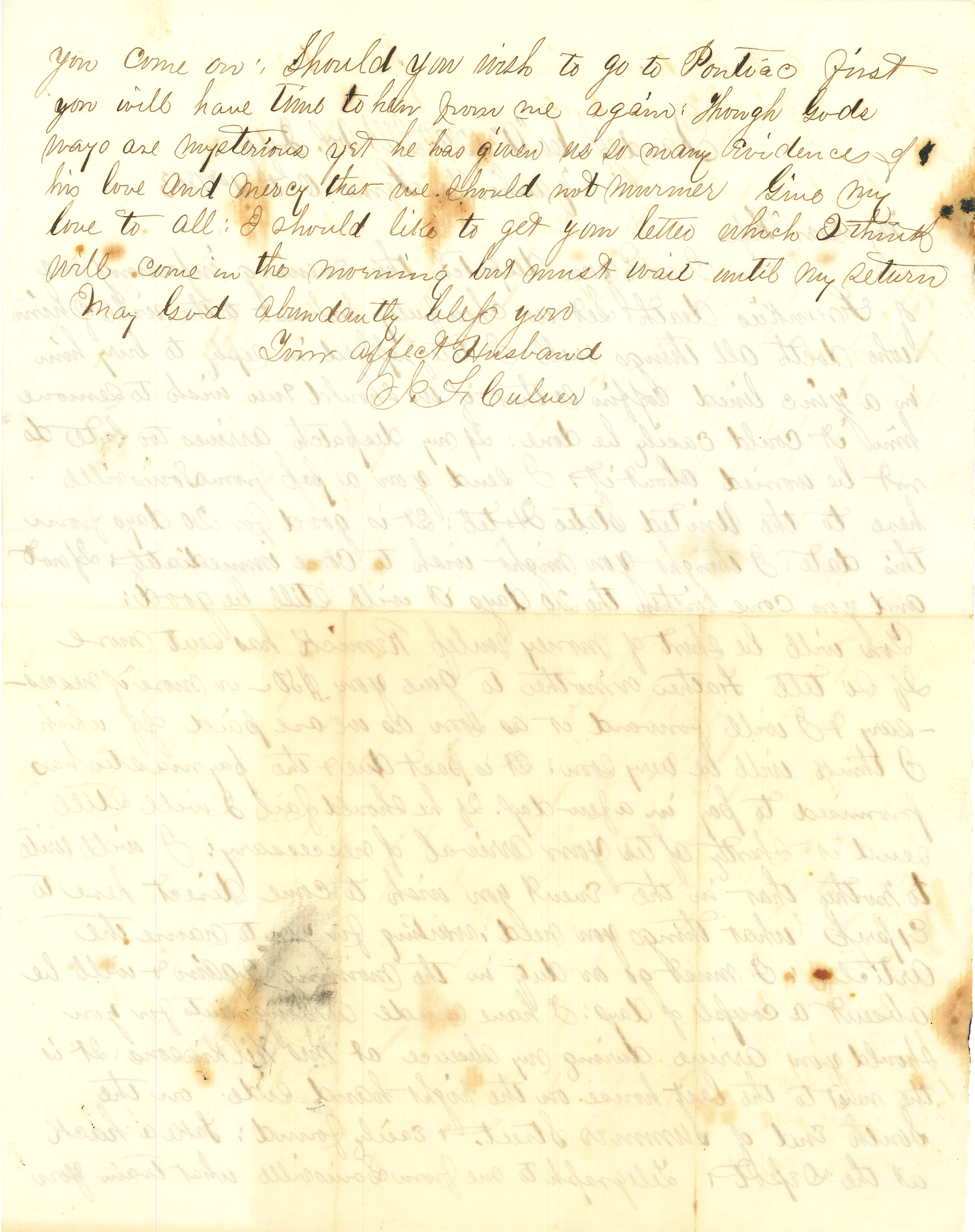 Joseph Culver Letter, October 31, 1863, Letter 2, Page 2