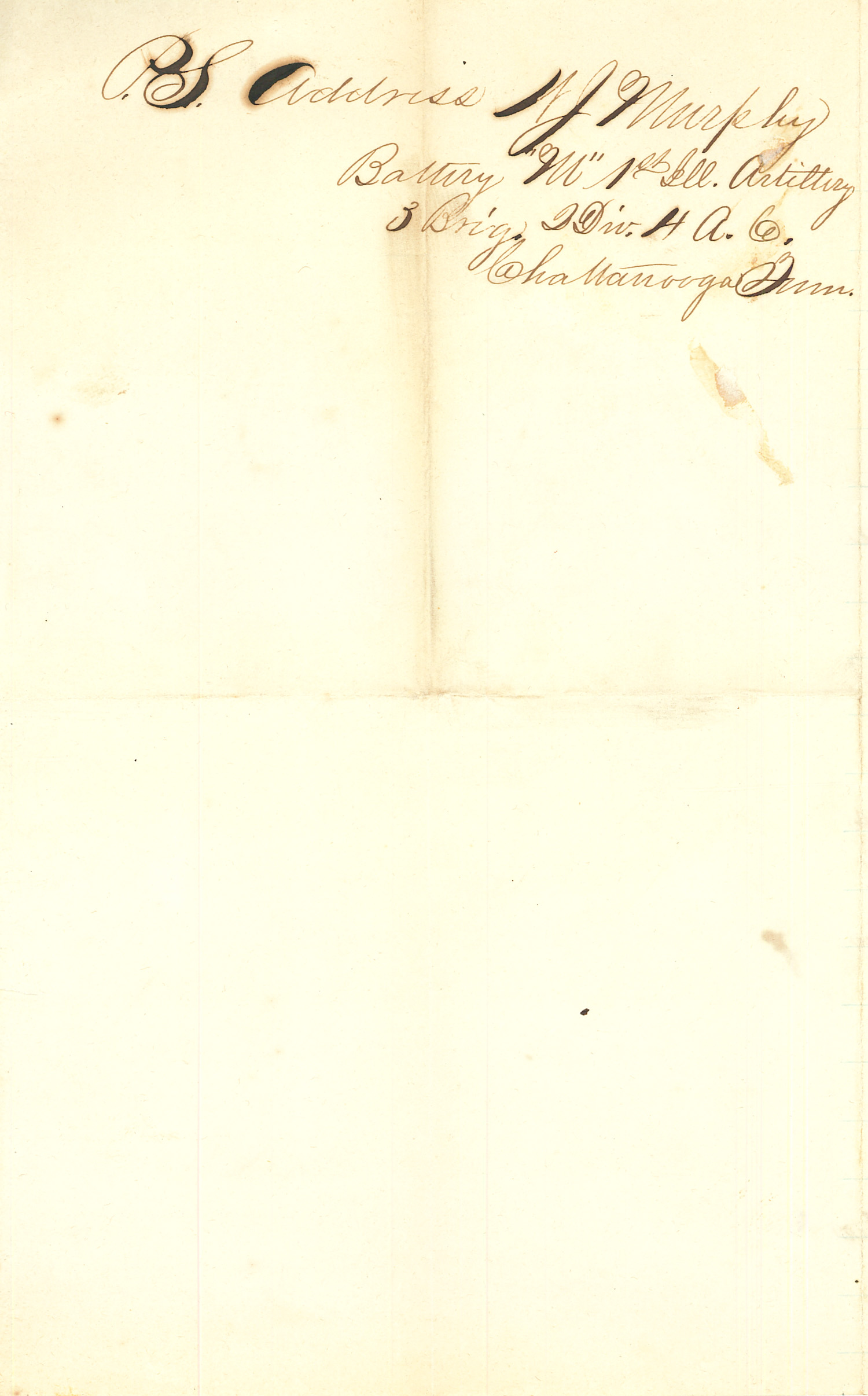Joseph Culver Letter, October 6, 1863, Page 4