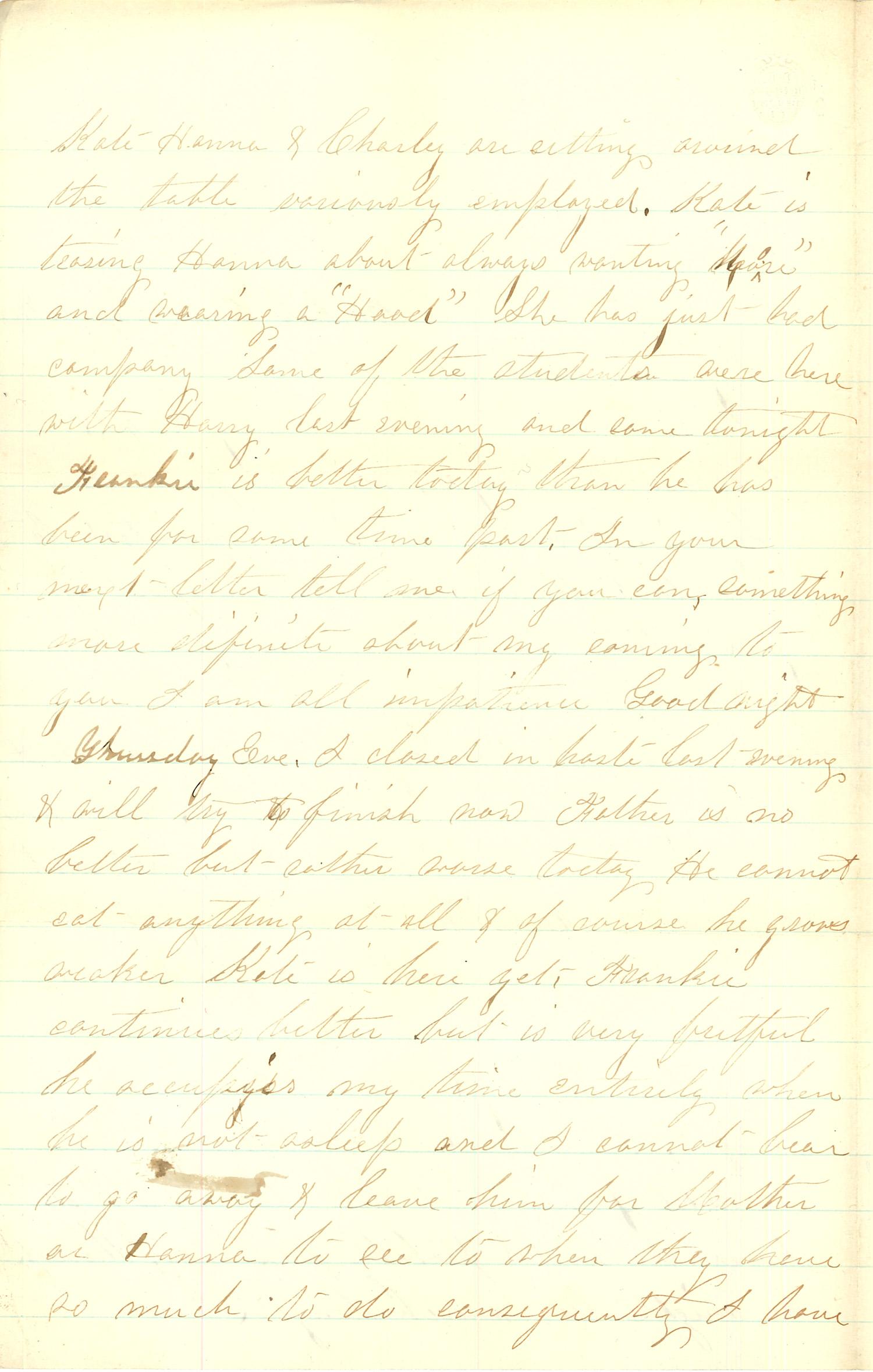 Joseph Culver Letter, September 27, 1863, Page 2