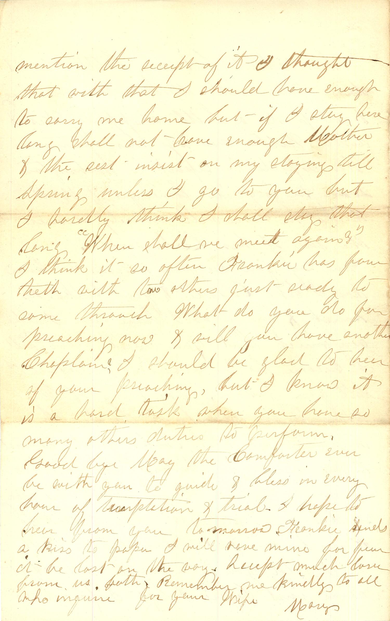 Joseph Culver Letter, September 27, 1863, Page 4
