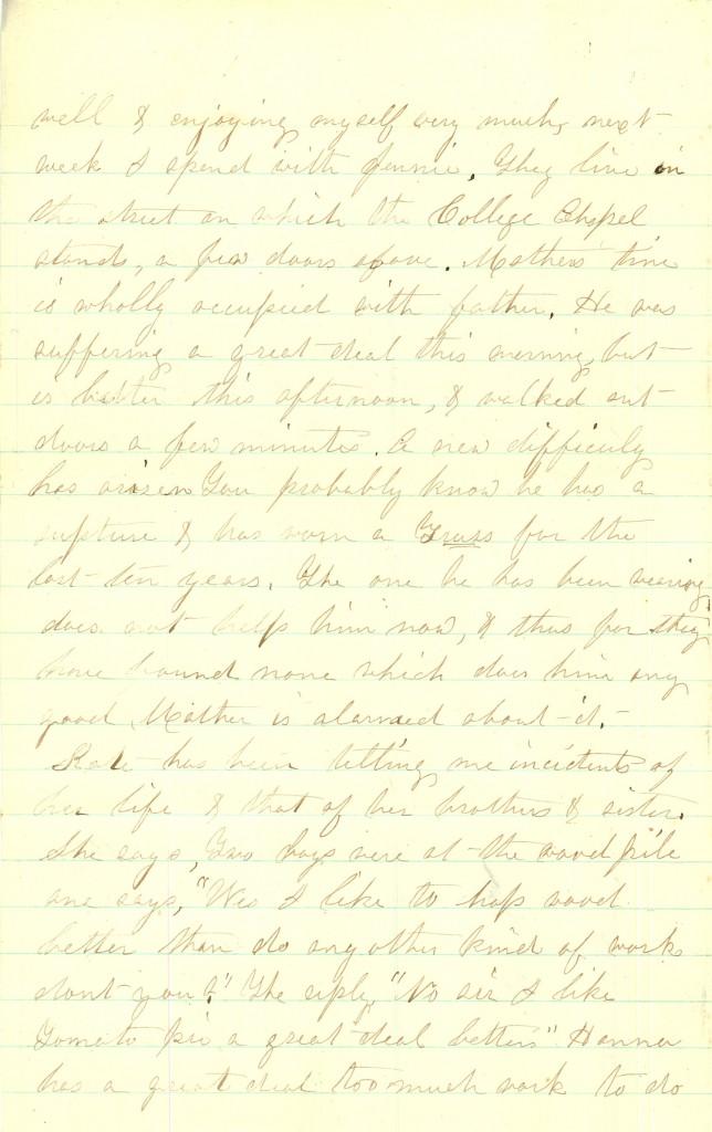 Joseph Culver Letter, September 4, 1863, Page 2