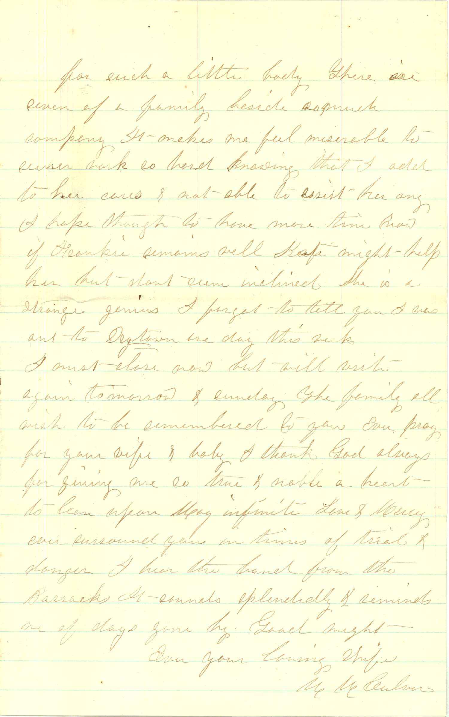 Joseph Culver Letter, September 4, 1863, Page 3