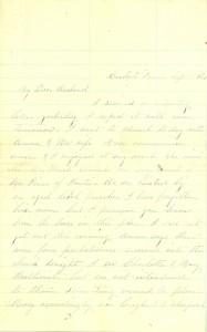 Joseph Culver Letter, September 6, 1863, Page 1