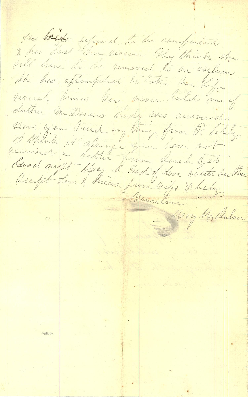 Joseph Culver Letter, September 6, 1863, Page 4