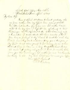 Joseph Culver Letter, April 12, 1864, Page 1