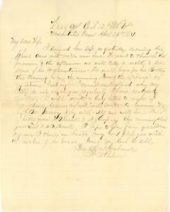 Joseph Culver Letter, April 24, 1864, Page 1