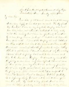 Joseph Culver Letter, April 3, 1864, Page 1