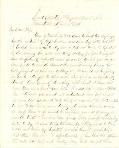 Joseph Culver Letter, April 6, 1864, Page 1