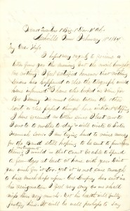 Joseph Culver Letter, February 11, 1864, Page 1