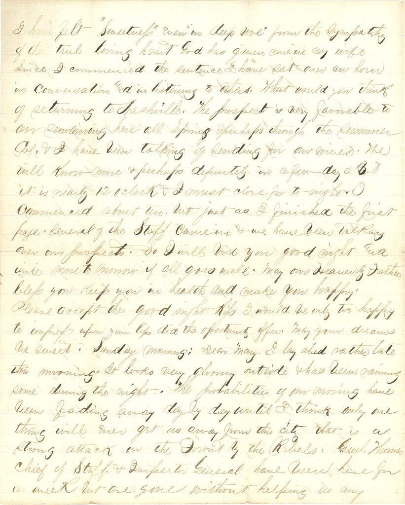 Joseph Culver Letter, February 13, 1864, Page 2