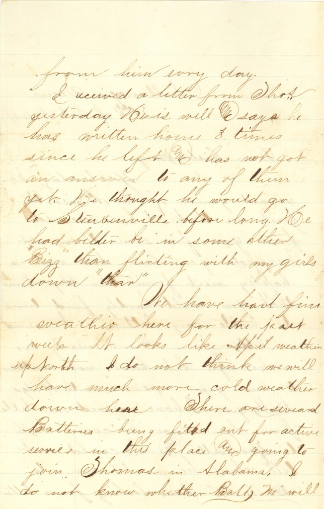 Joseph Culver Letter, February 21, 1864, Letter 2, Page 2