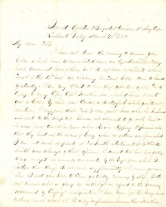 Joseph Culver Letter, March 20, 1864, Page 1