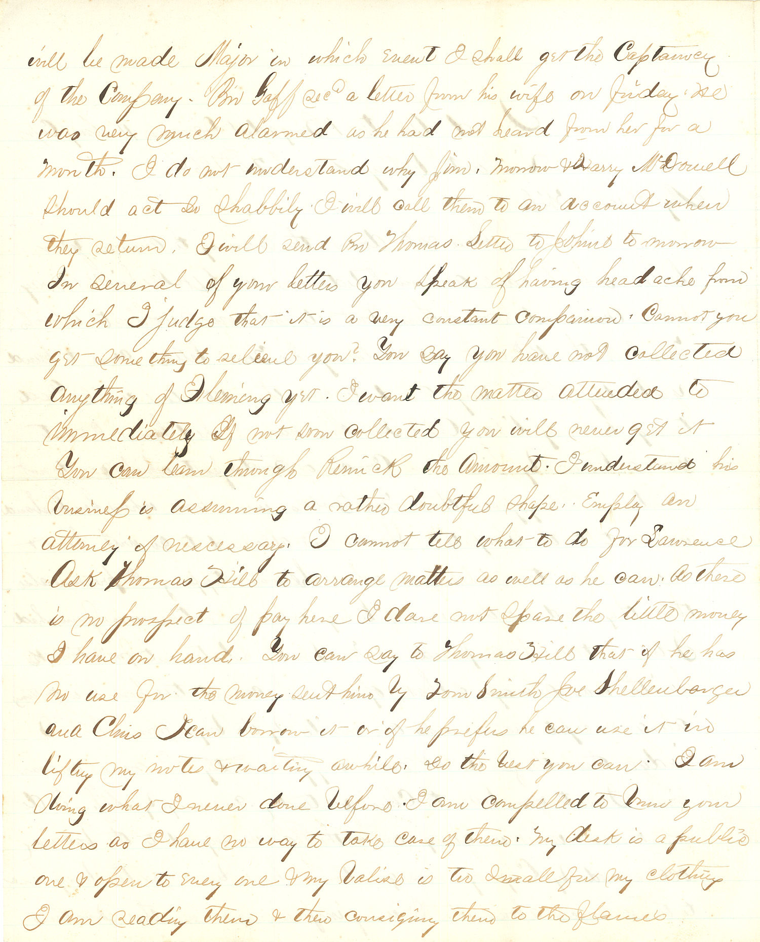 Joseph Culver Letter, March 20, 1864, Page 2