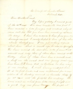 Joseph Culver Letter, March 22, 1864, Letter 2, Page 1