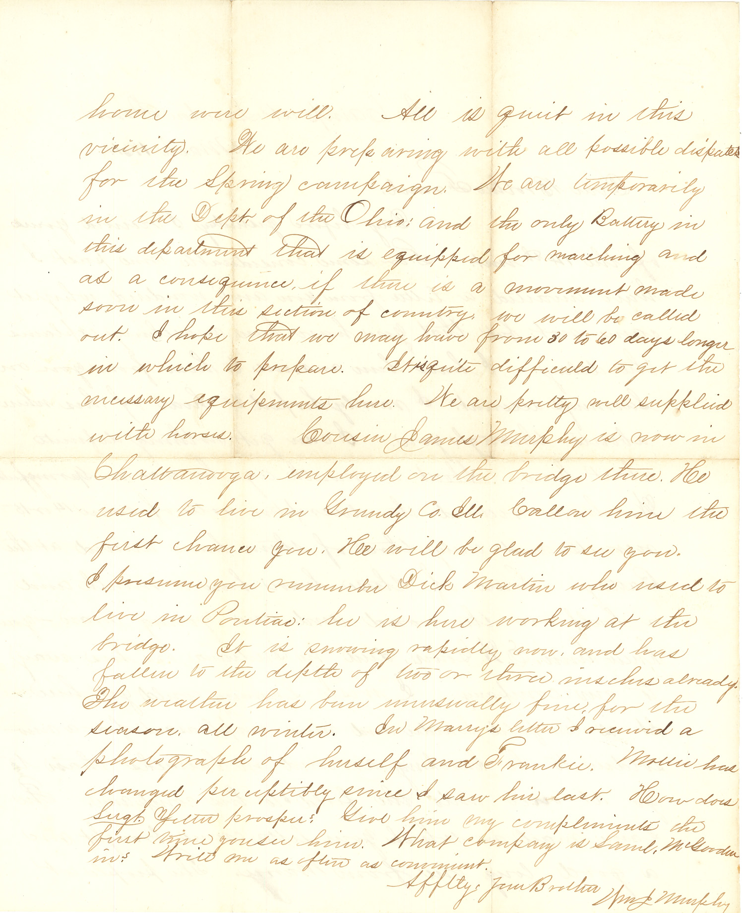 Joseph Culver Letter, March 22, 1864, Letter 2, Page 2