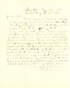 Joseph Culver Letter, March 22, 1864, Letter 3, Page 1