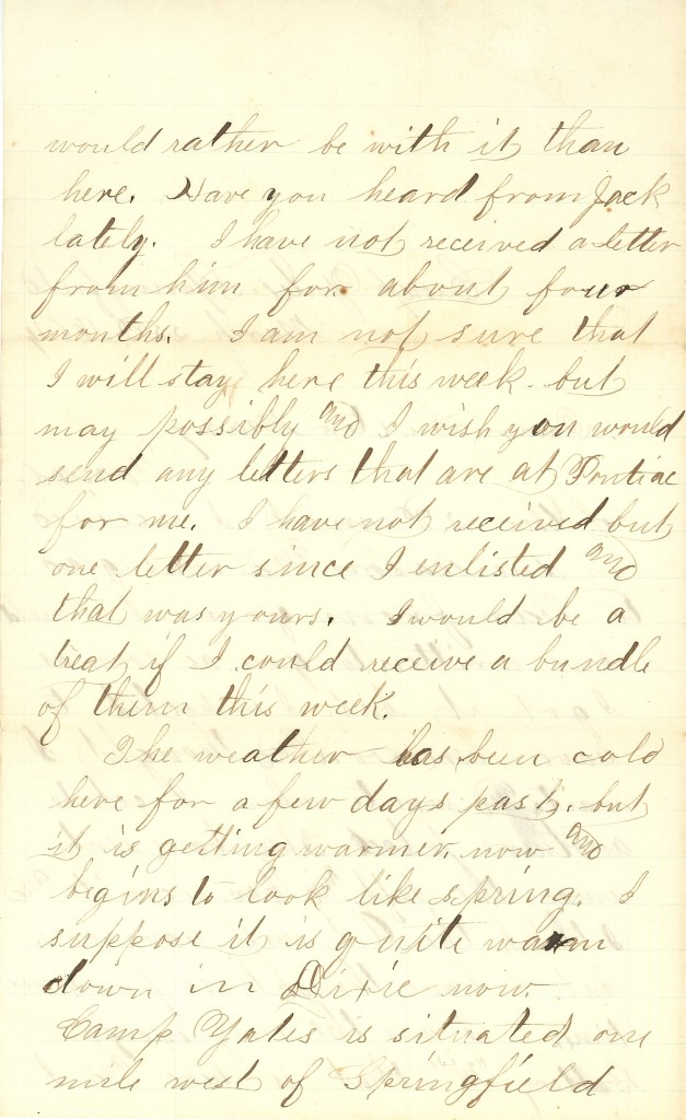 Joseph Culver Letter, March 22, 1864, Page 2