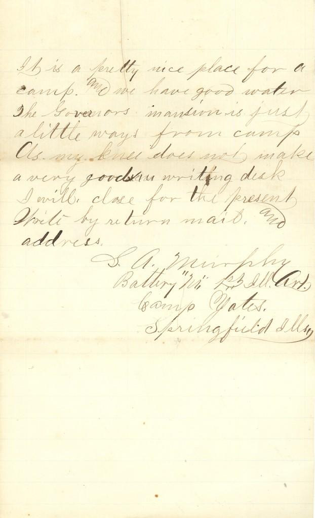 Joseph Culver Letter, March 22, 1864, Page 3