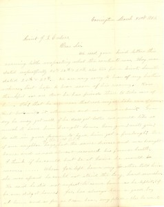 Joseph Culver Letter, March 31, 1864, Page 1