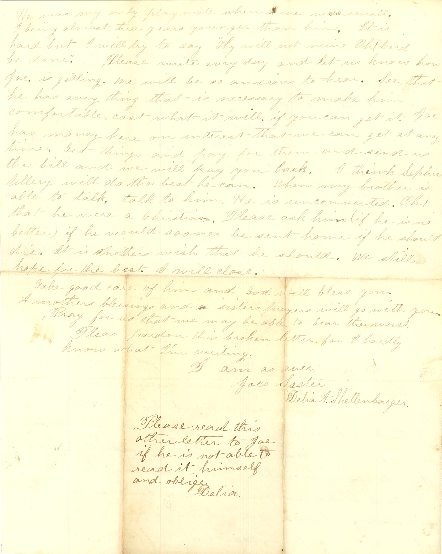 Joseph Culver Letter, March 31, 1864, Page 2
