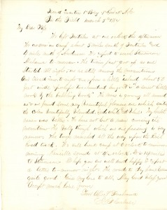 Joseph Culver Letter, March 5, 1864, Page 1