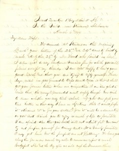 Joseph Culver Letter, March 6, 1864, Page 1