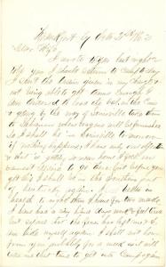 Joseph Culver Letter, October 21, 1862, Letter 2, Page 1