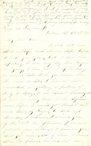 Joseph Culver Letter, October 31, 1862, Page 1