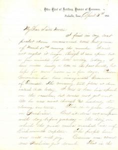 Joseph Culver Letter, April 5, 1865, Page 1
