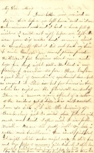 Joseph Culver Letter, August 20, 1864, Letter 2, Page 1