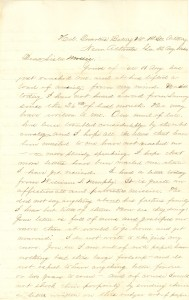 Joseph Culver Letter, August 22, 1864, Page 1