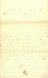 Joseph Culver Letter, August 30, 1864, Letter 2, Page 1