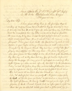 Joseph Culver Letter, August 31, 1864, Letter 2, Page 1