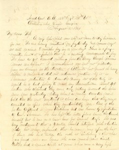 Joseph Culver Letter, August 31, 1864, Page 1