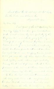 Joseph Culver Letter, August 5, 1864, Page 1