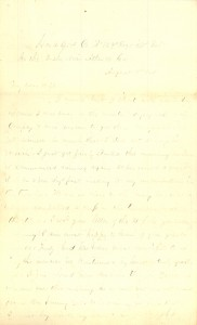 Joseph Culver Letter, August 9, 1864, Page 1