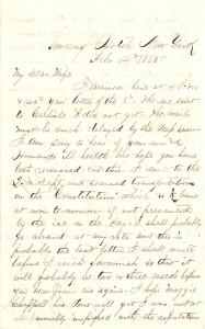 Joseph Culver Letter, February 14, 1865, Page 1