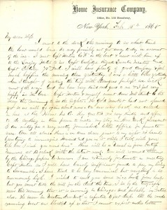 Joseph Culver Letter, February 15, 1865, Page 1