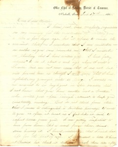 Joseph Culver Letter, February 17, 1865, Page 1