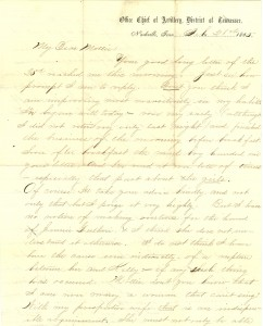 Joseph Culver Letter, February 28, 1865, Page 1
