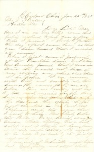 Joseph Culver Letter, January 25, 1865, Page 1