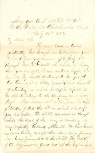 Joseph Culver Letter, July 16, 1864, Page 1