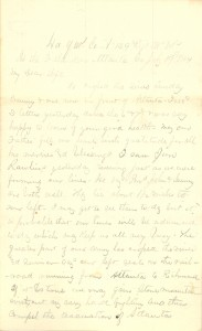 Joseph Culver Letter, July 19, 1864, Page 1