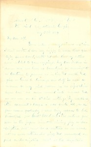 Joseph Culver Letter, July 28, 1864, Page 1